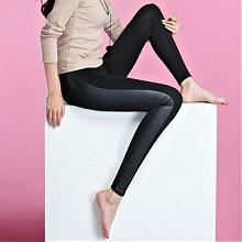 Homecore 春款外穿薄款侧边皮拼接打底裤