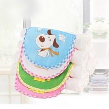 沐童 儿童吸汗巾隔汗巾 0-6岁 6条装