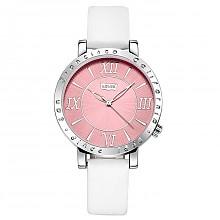 李维斯时尚个性系列石英女表粉红盘白带