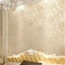 云丝 欧式客厅卧室背景3D无纺布墙纸