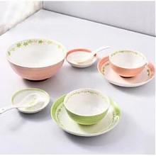千顺家用陶瓷釉下彩碗碟套装