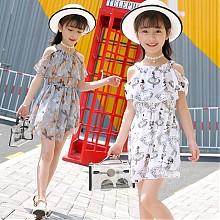 哒咔儿童韩版无袖公主裙