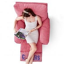 芝华仕单人布艺沙发 玫瑰粉