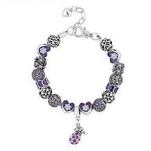 钻石风尚紫色珍宝水晶手链