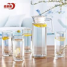 青苹果创意玻璃冷水壶水具5件套装