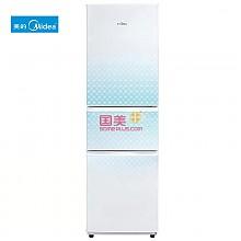 美的BCD-215TQM直冷式三门冰箱