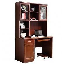 祥融带书柜中式实木书桌120*60*190cm