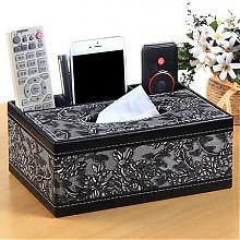 雅皮仕欧式家用皮多功能纸巾盒
