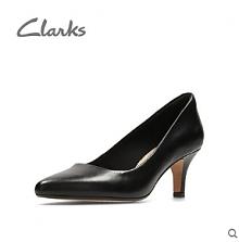 限Prime会员:Clarks女士真皮高跟单鞋