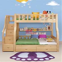 木巴现代简约梯柜子母床( 上1.4米 下1.6米)