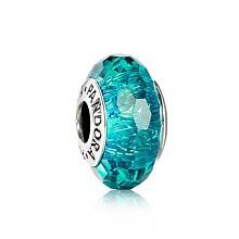 潘多拉 亮青色闪烁琉璃串珠