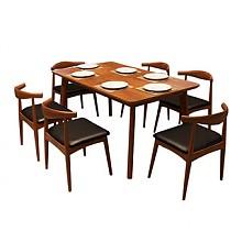 明佳友北欧实木餐桌组合1.38米
