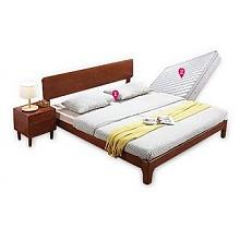健舒宝北欧风格实木双人床+床垫 1.8*2.0m