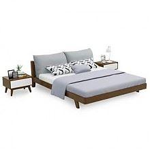 夏树现代北欧风格卧室实木床1.8M单床