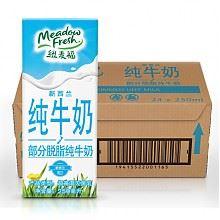 纽麦福部分脱脂牛奶250ML*24盒