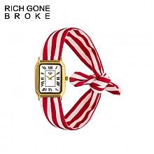 浪漫七夕:法国RGB红白绑带腕表