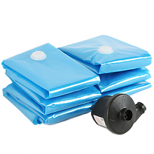 当当优品 加厚真空压缩袋 15件套 蓝色