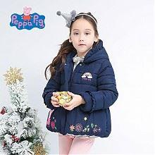 移动专享:小猪佩奇 女童冬季花苞棉服