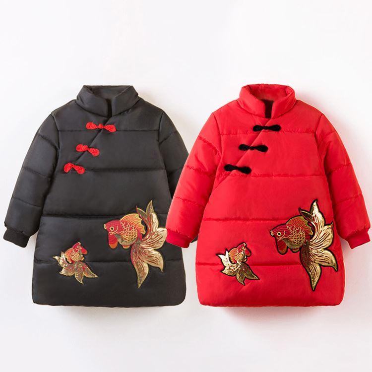 女童中国风唐装过年衣服加厚棉衣