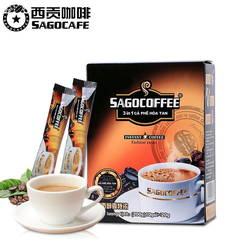 越南进口西贡咖啡10条盒装