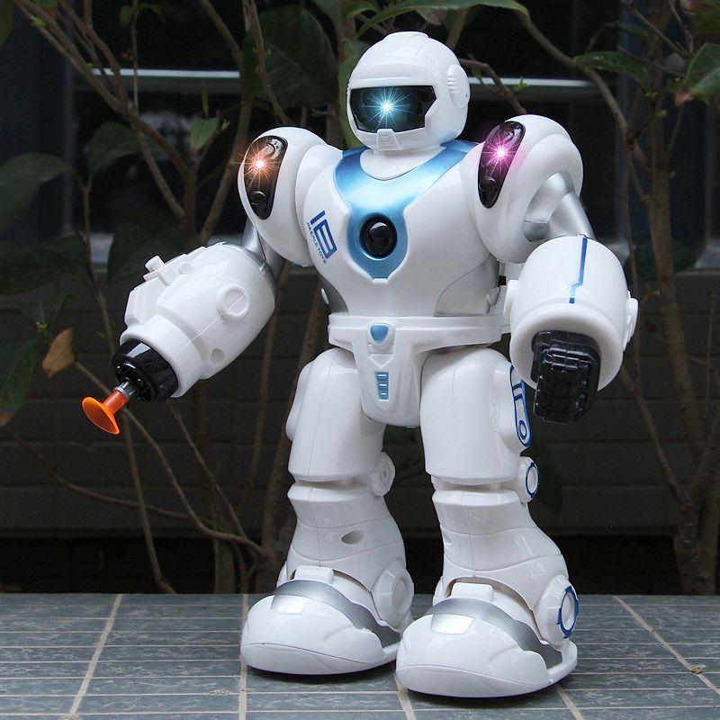儿童益智电动玩具自动转向机器人