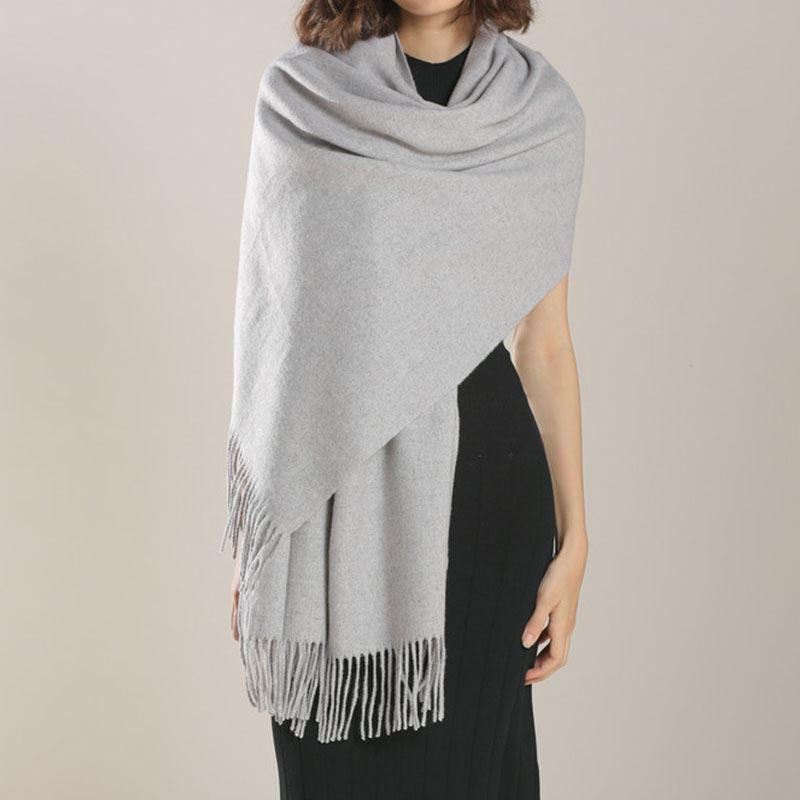 红日华天韩版羊绒双面可用围巾