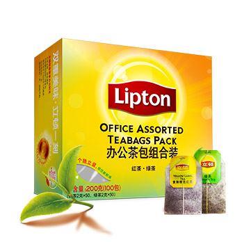 立顿精选红茶50包+绿茶50包组合