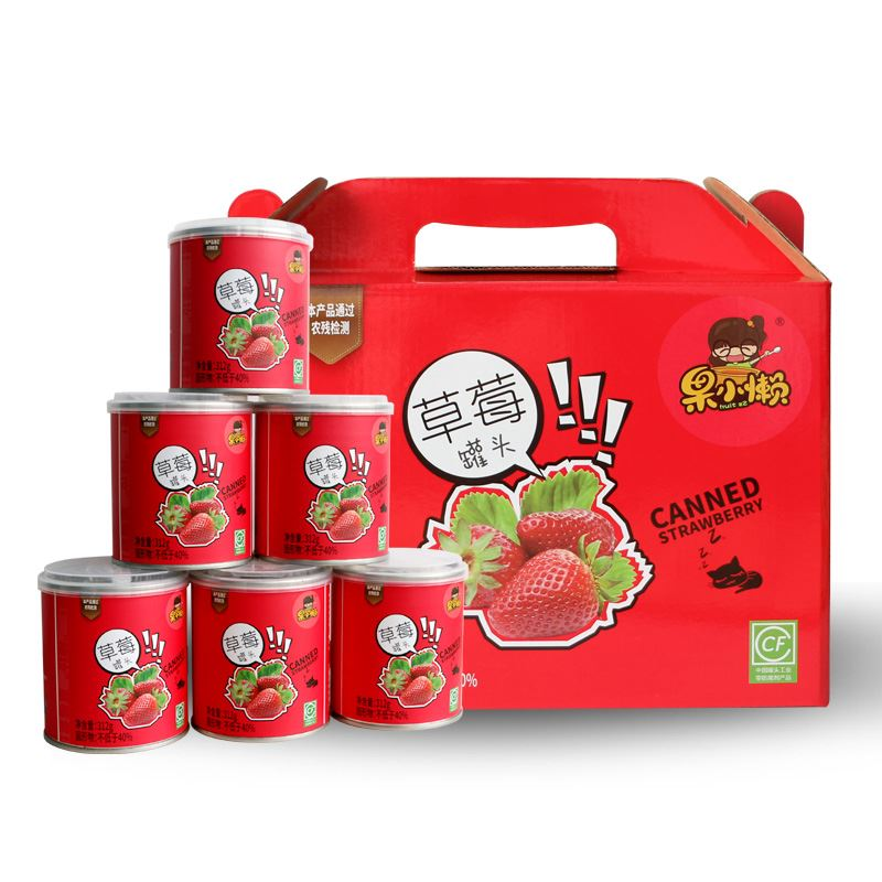 无色素草莓罐头312g*6罐